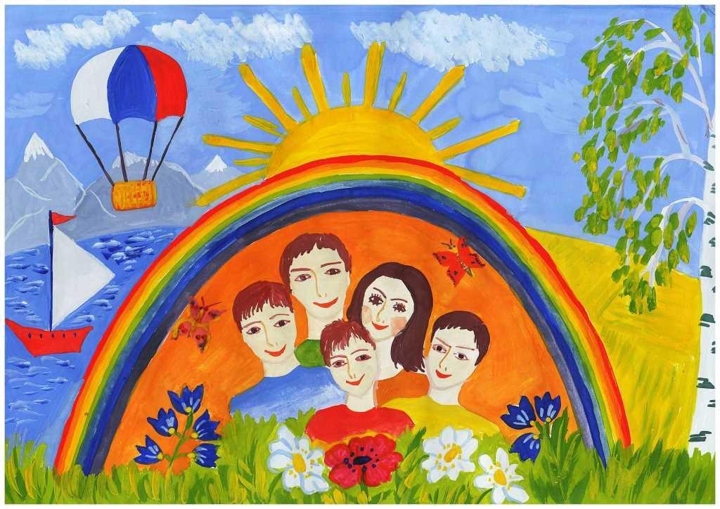 Всероссийском конкурсе детского патриотического рисунка я рисую мир