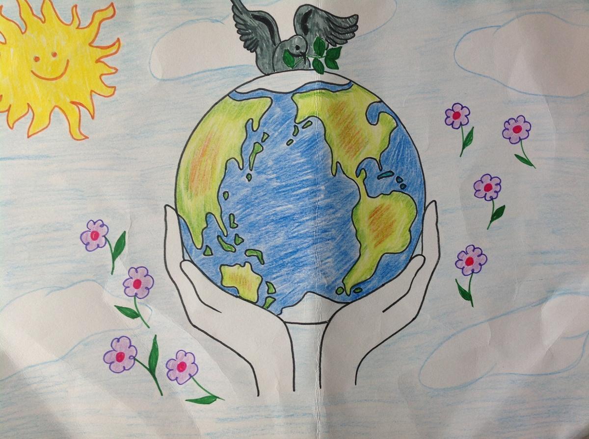 Мир рисунки своими руками 164